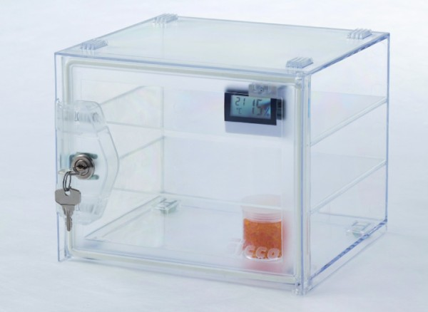 SICCO Mini-Desiccator Secure Box Premium, polycarbonate