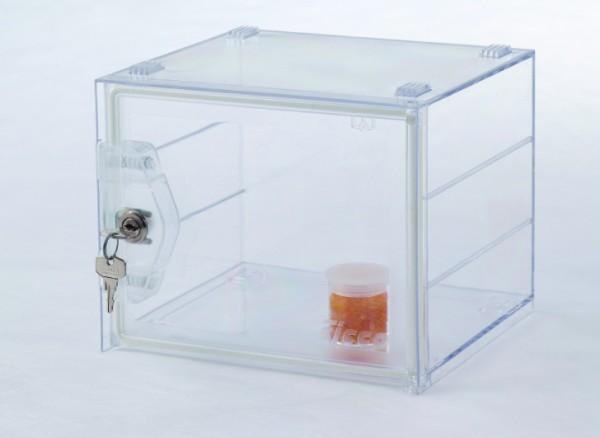 SICCO Mini-Exsikkator Secure Box Basic, Polycarbonat