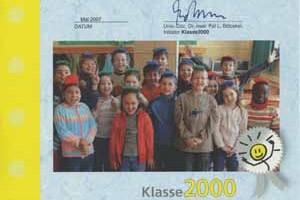 Unterstützung für die Aktion Klasse 2000