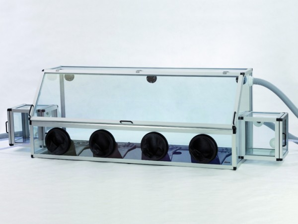 SICCO Glove Box Duo 1 with Transfer Chambers Antistatic, PC ESD